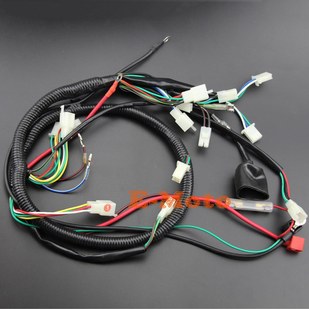 hight resolution of buggy wiring harness loom gy6 engine 125 150cc quad atv electric start stator 8 coil spark plug go kart kandi go kart dazon in motorbike ingition from