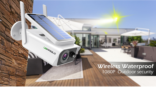 USAFEQLO Wide View surveillance camera Solar panel Rechargeable Battery 1080P Full HD Outdoor Indoor Security WiFi IP Camera 2
