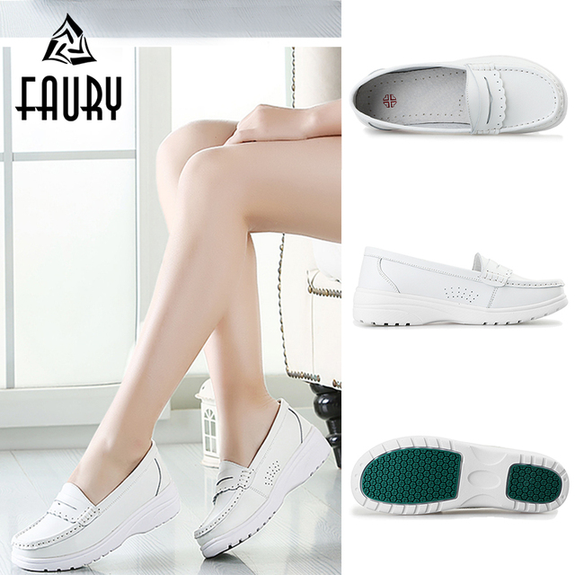 6f09ff03dac1 White Nurse Hospital Medical Work Shoes Soft Platform Shoes for Women  Female Doctor Drugshop Dental Clinic Footwear Thin Shoes