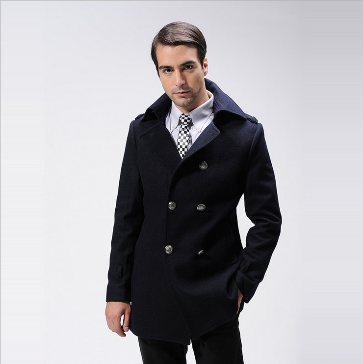 New Arrival Winter Overcoat Men Woolen Coat British Style Mens ...