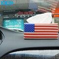 Estilo do carro Caixa De Papel Carro Caixa de Tecido em Estilo Europeu Elegante Real carro EUA/REINO UNIDO Bandeira Caixa De Armazenamento De Papel Titular Caixa de Tecido de Couro PU