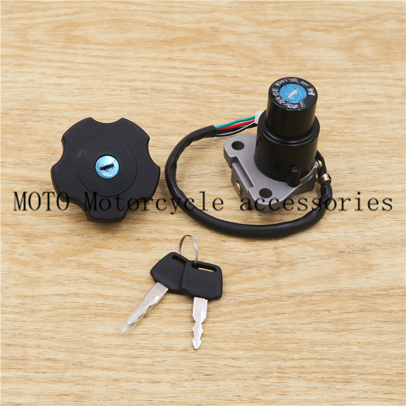 Motorcycles Ignition Switch Gas Cap Seat Key Lock Set For Yamaha Serow 225 XT225/ DT200 DT200R 1991-1994 92 93
