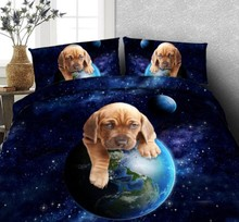 3D Dog print Bedding set duvet cover bed in a bag sheet sheets linen bedspread California King Queen size full twin 4PCS