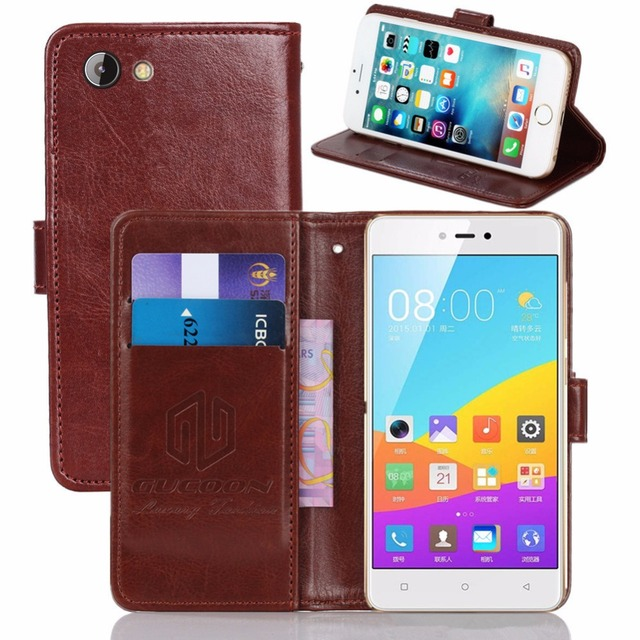 quality design 0cd9b 132d4 US $3.99 20% OFF|GUCOON Vintage Wallet Case for Gionee F103 Pro 5.0inch PU  Leather Retro Flip Cover Magnetic Fashion Cases Kickstand Strap-in Wallet  ...