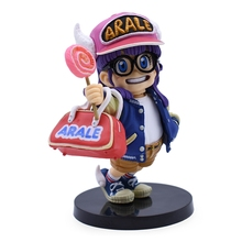Anime Dragon Ball Z Cute Arale With Lollipop PVC Action Figure Collectible Model Doll Toy 11CM ems free shipping anime dragon ball z dragon ball king kong pvc action figure collectible toy 36cm retail box