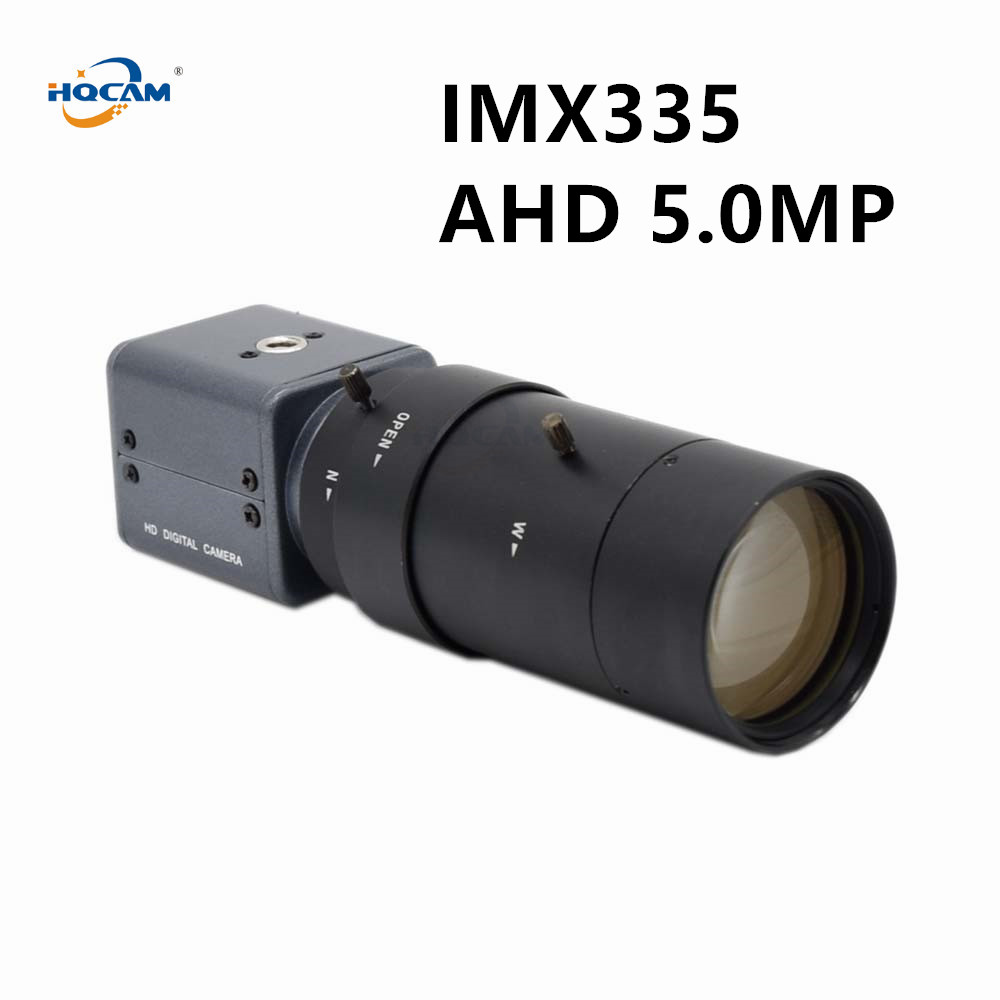 HQCAM AHD 5MP\4MP,TVI 5MP\4MP,CVI 4MP,cvbs 5-100mm Manual Zoom Lens Sony STARVIS IMX335 Industrial CCTV Camera Module Box UTC