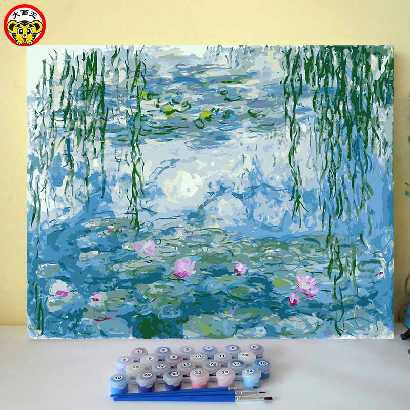 Monet Water Lily Famous Paintings Artwork Modern