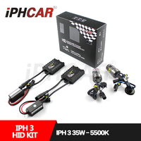 Free Shipping IPHCAR 35W Xenon HID Kit Bulb Ballast AC 12V 1 Pair Ballast 1 Pair