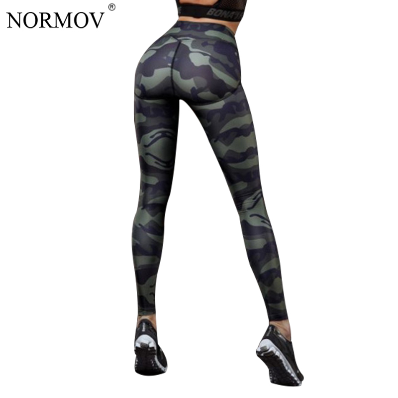 NORMOV Camo Printed Leggings Women Workout Gothics Push Up Pants Female Casual Sexy High waist Jegging Skinny Fitness Clothing