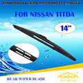 "Wiper Blades For NISSAN TIIDA(2007-) 2008 2009 2010 2011 2012 Rear Car Windscreen Wiper Windshield Wiper Blade 14"" Cars styling"