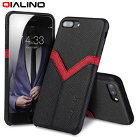 QIALINO Fashion Case for iPhone 8 plus Genuine Leather Back Luxury phone shell for iPhone 8 Slim caso for iphon8 8plus Cases