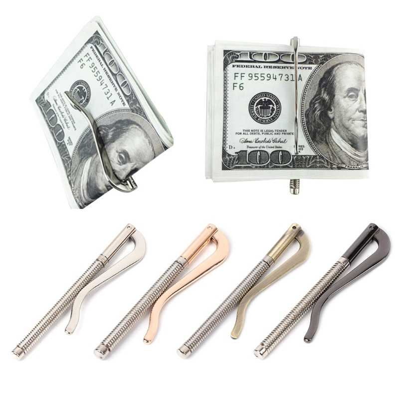 Metal Bifold Money Clip Bar Wallet Replace Parts Spring Clamp Cash Holder