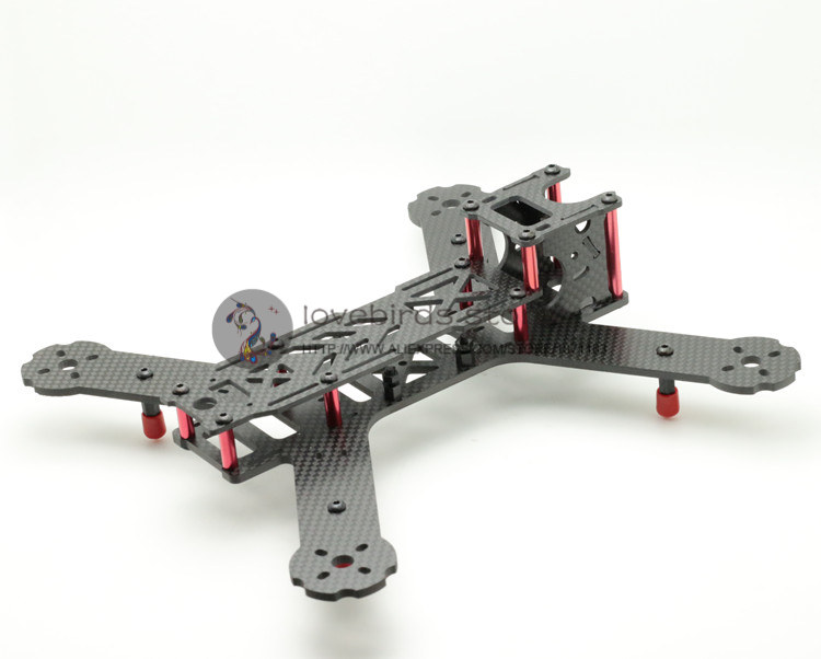 DIY fpv mini drone pure carbon fiber race quadcopter LT HEX4-235 X235 frame body and wing arms integrally molded unassembled diy mini drone fpv race nighthawk 250 qav280 quadcopter pure carbon frame kit naze32 10dof emax mt2206ii kv1900 run with 4s
