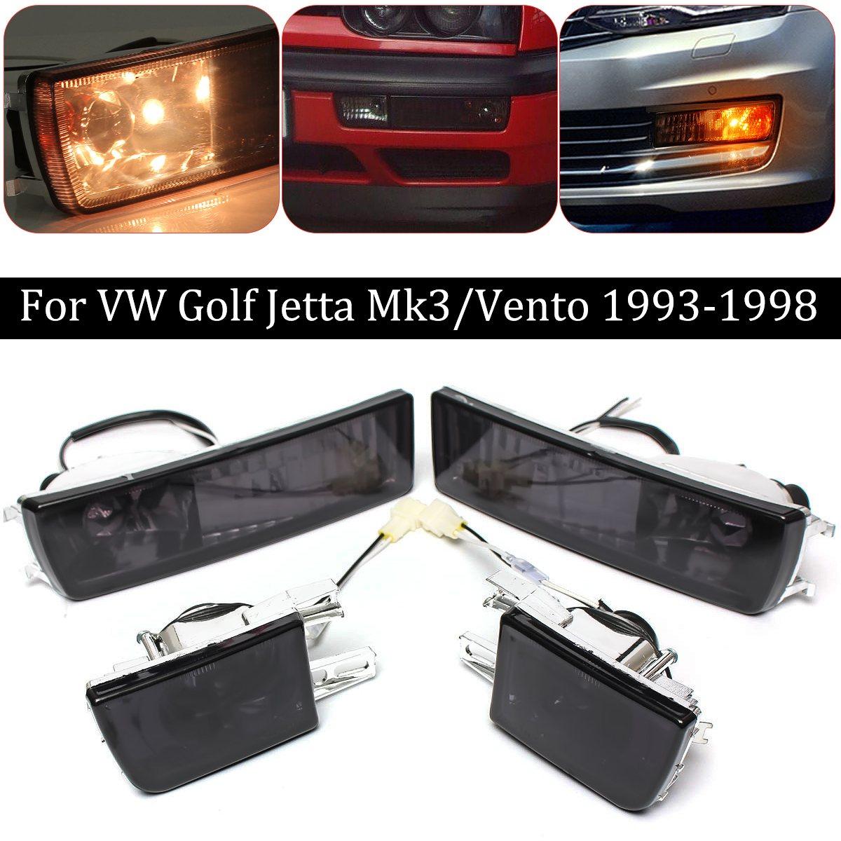 Пара передний бампер дым объектив туман света сигнала лампа для VW/Гольф/Джетта Мк3 93-98