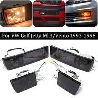 Pair Front Bumper Smoke Lens Fog Light Signal Lamp For VW/Golf/Jetta Mk3 93 98