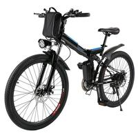 Bicycle Mountain Bike Electric Bike Full Suspension Alluminium Folding Frame 27 Speed Mechanic Brake 26 Wheel