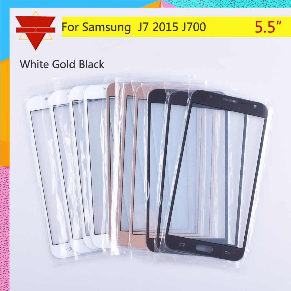 لمس لسامسونج غالاكسي J7 2015 J700 J700F J700FN J700M J700H SM-J700F اللمس شاشة الجبهة لوحة زجاج عدسة الخارجي LCD