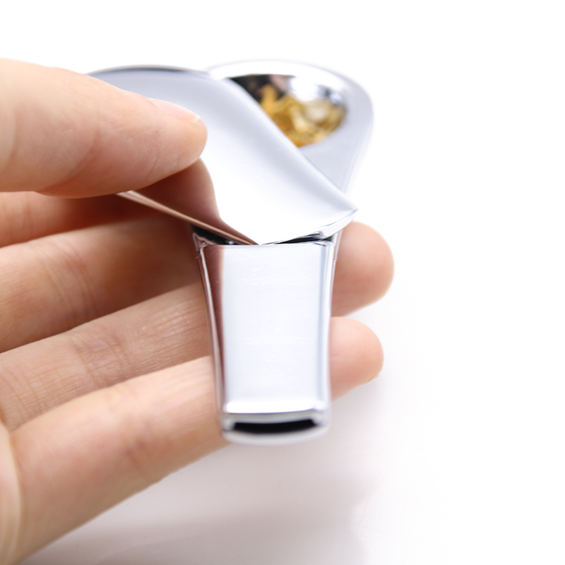 E.K.J New Creative Spoon Smoking Pipe Portable Metal Herb Accessories With Magnets Gift Box Packing Hidden Hookah Tobacco Pipe