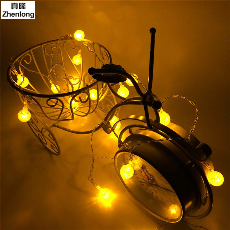 Packaged for sale Ball LED String Light Warm White Holiday Light for Party Wedding Decoration Christmas LightsCrystal Light Bulb