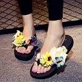 Zapatos de mujer chaussure femme sapato feminino Más Tamaño Flip Flop Verano Femenino Flor Sandalias de Plataforma Zapatilla sandalia feminina