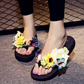 shoes woman sapato feminino Plus Size Flip Flops Female Summer chaussure femme Flower Sandals sandalia feminina Platform Slipper