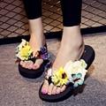 shoes woman sapato feminino Plus Size Flip Flops Female Summer chaussure femme Flower Sandals sandalia feminina Platform Slipper