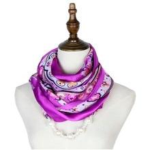 Jzhifiyer silk scarf mujer pendant necklace jewellery echarpe hijab feminino fashion pearl neck scarves women