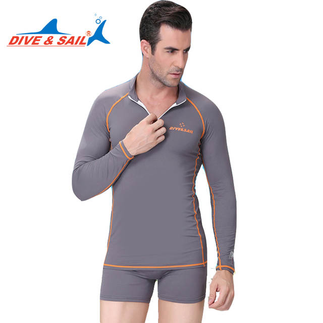 eafcbca0d7 Online Shop Dive Sail rash guard couple suits two pieces swimsuits long  sleeve diving swimming anti jellyfish swimwear
