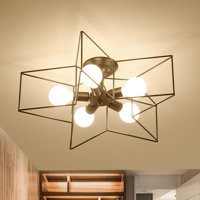 5 heads Nordic home modern simple flush mount ceiling lamp with LED bulbs living room bed room light  110v 220v E27 fashion design of kids room lamp nordic dome light 3 5 heads ceiling lights for home decorate