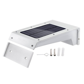 20 Leds Solar Wall Lamp PIR Motion Sensor Waterproof Body Induction Sound Voice Control Battery Power Outdoor Garden Path Lights soccer-specific stadium