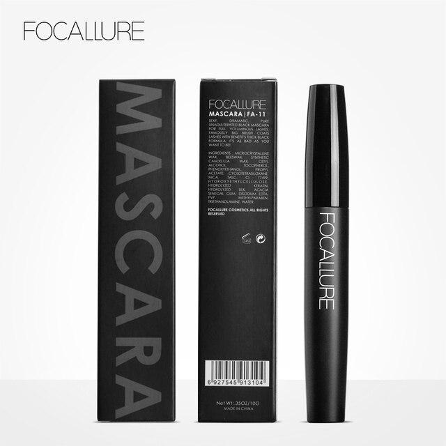 Professional Volume Curled Lashes Black Mascare Waterproof Curling Tick Eyelash Lengtheing Eye Makeup Mascara by Focallure 5