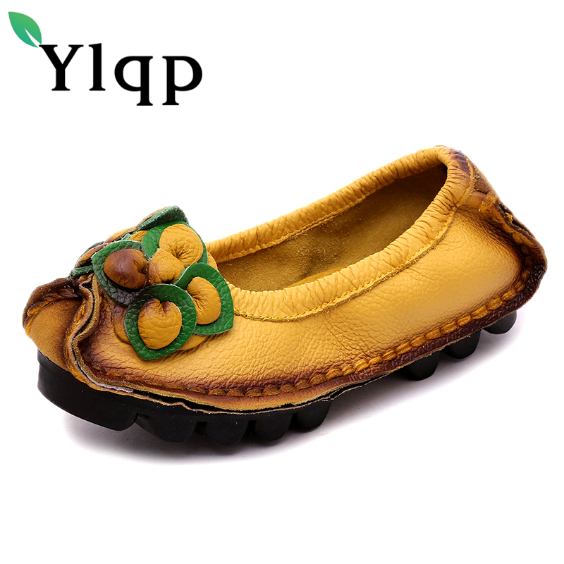 Women Shoes Woman Genuine Leather Flat Shoes Fashion Hand-sewn Leather Loafers Female Casual Shoes Women Flats sapato feminino genuine leather women flats shoes new 2015 slip on woman fashion leather loafers brand designer bow sapato feminino flat shoes