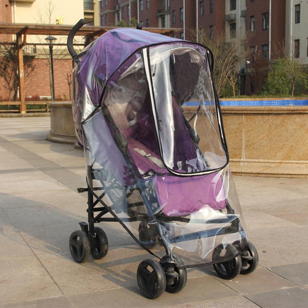 Kids Baby Stroller Rain Cover Waterproof Umbrella Wind Dust Shield+Mosquito Net Cart Mosquito Net Pushchair Full Cover Netting