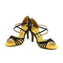 YOVE Dance Shoe Women's Latin/ Salsa Dance Shoe 3.5″ Slim High Heel More Color w167-1