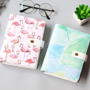 JUGAL Carino Flamingo Acquerello Spiral Notebook A6 Cuoio Planner Notepad Cancelleria Della Corea Diario DIY Forniture Scolastiche Regalo