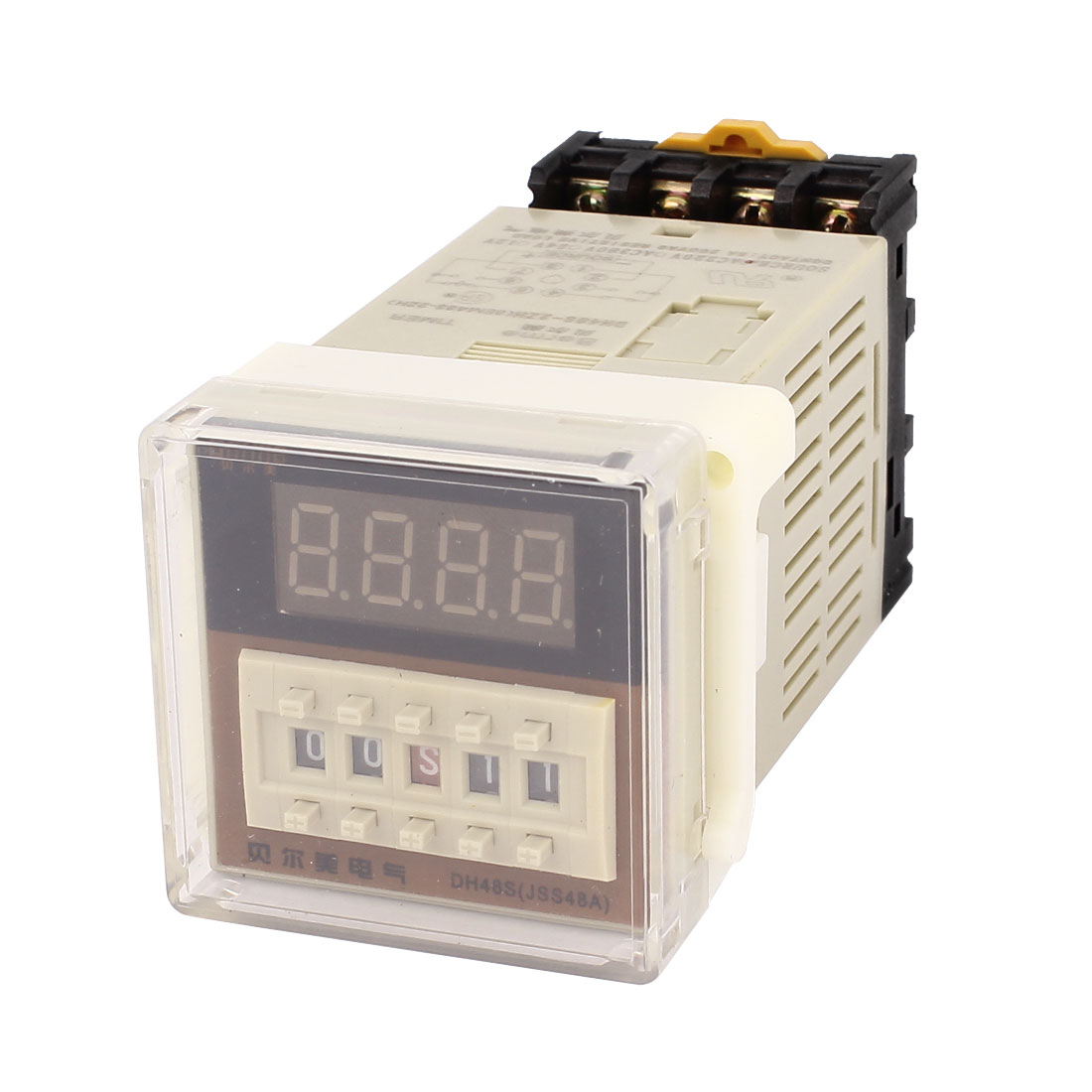 Dh48s-2Zh 0.01S-99H99m Ac220v Din Rail Lcd Digital Timer Time Delay Relay W Base цена