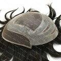 Мужская Парик 100% Европейские Настоящие Волосы Парик Парик Швейцарский Шнурок С Поли Aliexpress Складе 1B Натуральный Черный 8x10 H010