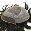 Mens Toupee 100% European Real Hair Wig Toupee Swiss Lace With Poly Aliexpress Stock 1B Natural Black 8x10 H010