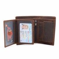 NEWEEKEND תבנית Lichee עור פרה שמן עור אמיתי אנכי קצר עבה כיס ארנק ארנק כרטיס מטבע מזומנים מחזיק איש 566