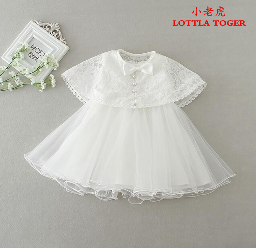 2 pcs/set baby girl dress vintage baby Christening dresses 1 year birthday girl party dress newborn kids christmas clothing