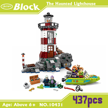 ATOY 10431 Toys 437pcs Scooby Doo The Haunted Lighthouse Blocks Minifigures Building Block Minifigure Toys with kids gift