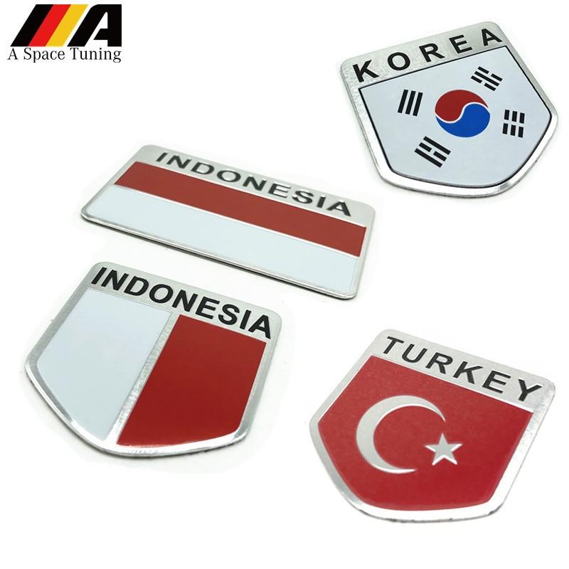 KOREAN FLAG AUTOMOBILE GRILLE BADGE EMBLEM