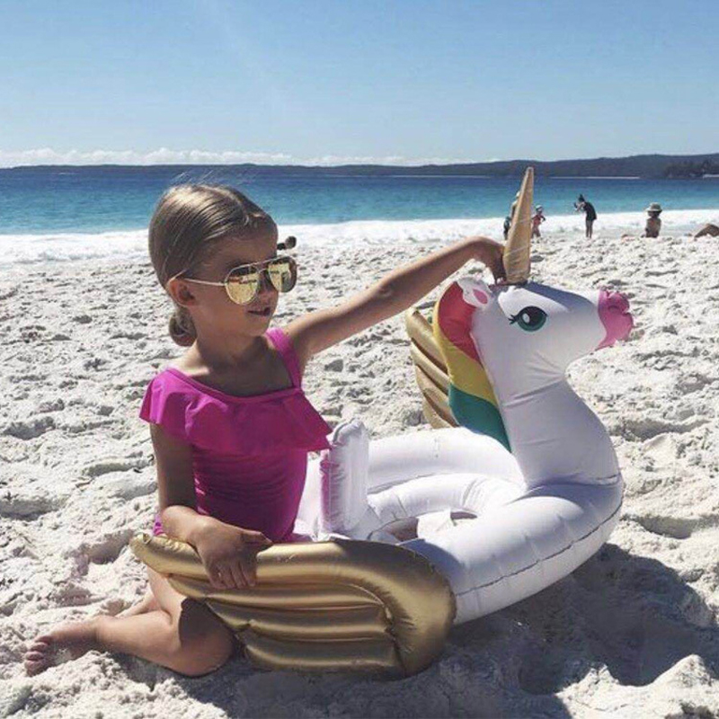 2018 Unicorn/Flamingo/Swan/Toucan Baby Ride-on Swimming Ring Inflatable Pool Float For Kids Water Toys Safety Seat Lounger Boia