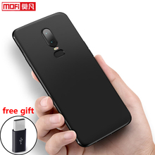 OnePlus 6 Case oneplus Cover Silicone Mofi Ultra Thin Back Black Soft Slim Protect ONEPLUS CASE Matte