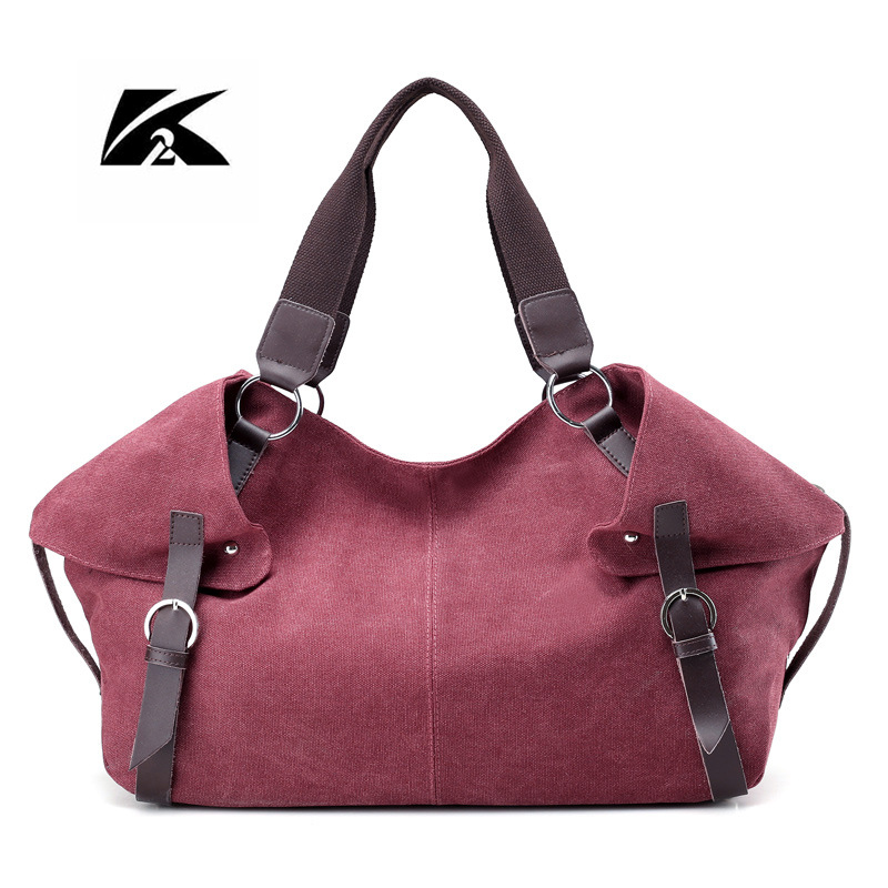 KVKY Women Canvas Bag New Woman Messenger Bags For Woman Handbags 2017 Casual Woman Shoulder Bag Large Tote Bolsa Feminina WH221  все цены