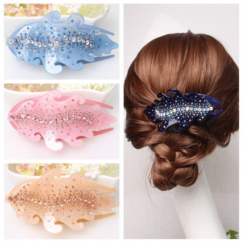 Buena Produk Berkualitas Baik Baru Chic berlian imitasi rambut pin - Perhiasan fashion - Foto 2