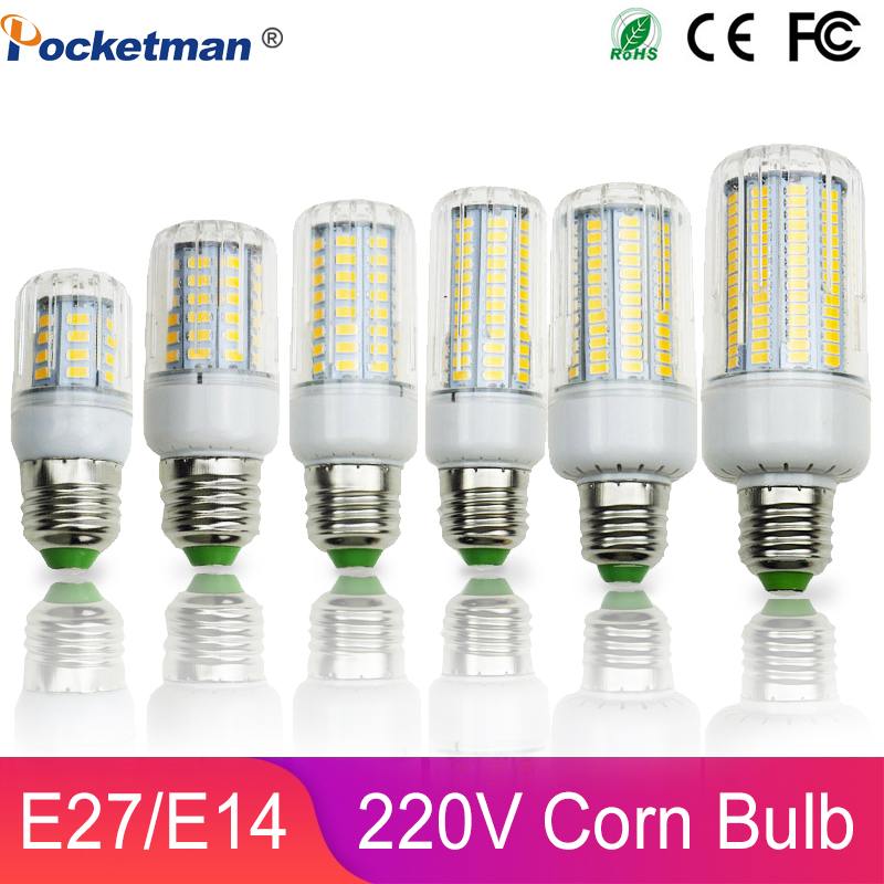 LED Corn Bulb Light 50W 40W 30W 25W 15W 12W 7W Incandescent Replace E27 E14 5730 SMD 220V Spotlight LED Lamp Light Home Lighting