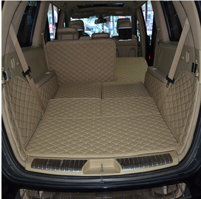 Car Travel Special car trunk mats for Mercedes Benz GL 450 X166 7seats 2016-2013 durable cargo liner boot carpets for GL450