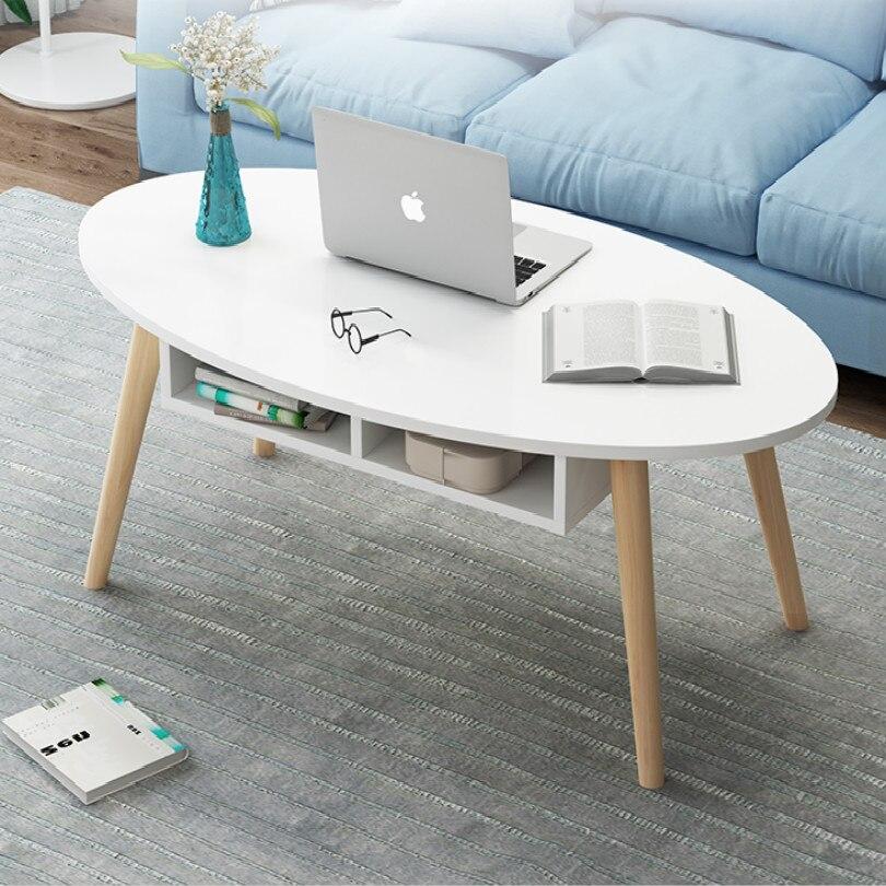 Table basse carrée ovale de 80*40CM pour la table de chevet de table basse latérale de salon