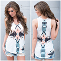 New Arrival High Quality Women's Summer Aztec Tank Vintage Geometric Tribal Print Fitness Casual Tops Drop Shipping